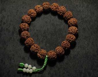 Hand-Held Mala made by High Quality 5 Faces Nepal Rudraksha (16mm) Private Collection SOLD!