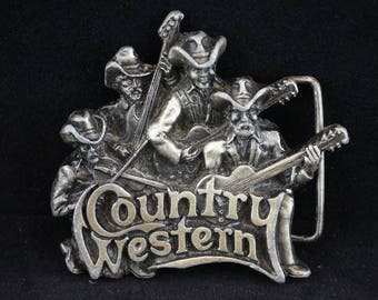 Country and Western Belt Buckle Made in USA 1981