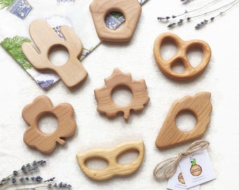 Organic baby Pacifiers Teething toy Natural baby Teether toy Wooden teether Toy for baby