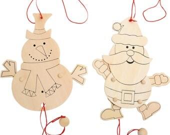 wooden Santa Claus puppet