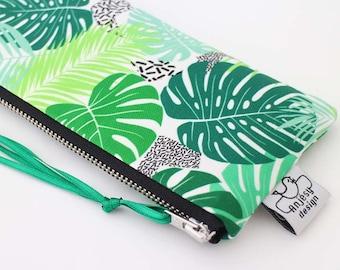 Pencil case//Pencil Pouch//Tropical pencil case//Tropical clutch//School supplies//Original ANJESY designs.