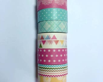 "Painted Posies - Michaels Recollections - 24"" Washi Samples"
