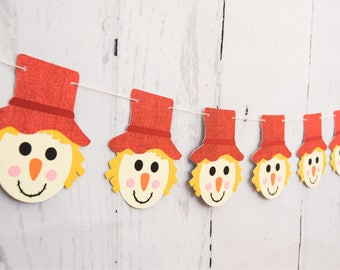 FALL BANNER - RTS Banner - Scarecrow Banner - Scarecrow Decoration - Fall Home Decor  - Fall Decoration - Thanksgiving Banner -