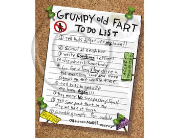 Grumpy Old Fart To – Do List