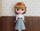 Blythe outfit  *Sleeping Rose Dress Green*