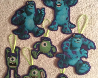 Monster U-Sully and Mike-Christmas Ornaments-Set of 7