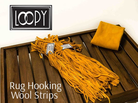 Rug Hooking Wool Strips, Yellow (Canary), Yellow Rug Hooking Wool, Yellow  Hand Dyed Wool For Rug Hooking, 100% Wool (50 Strips) From LoopyWoolSupply  On Etsy ...