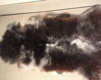 Sheepskin rug supersoft rugged throw from Norwegian norse breed medium locke length sheep skin 17192