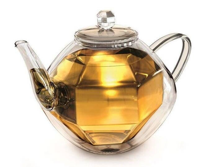 doppelwandige Glas - Teekanne 800ml Borosilikat