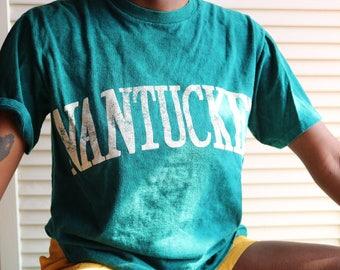 Vintage Acid Wash Green Nantucket T-Shirt