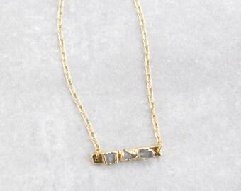 moonstone pendant / moonstone bar necklace / moonstone necklace / layering necklace / gemstone necklace / gemstone pendant / birthstone