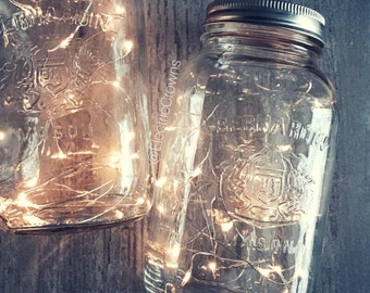 SALE! Fairy lights, Rustic Wedding Decor, Wedding Centerpiece Lights, Copper Wire Lights, Rustic Decor, Waterproof, Battery Included *No Jar