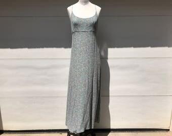 floral 90s maxi dress vintage