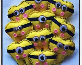 Minion inspired tooth fairy pillow, yellow tooth fairy box, despicable tooth fairy pillow  with initial on back pocket