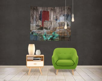 I Love Chicago Tapestry Wall Hanging - Wall Tapestry | Scenic Tapestry | Home Decor | Dorm Room Wall Hanging | Bedroom Tapestry