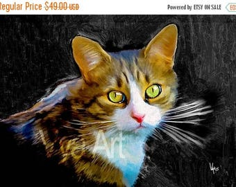 CAT PORTRAIT Custom Cat portrait Pet portrait Cat painting custom Pet Portrait Cat art Custom Cat painting Custom portrait portrait Custom