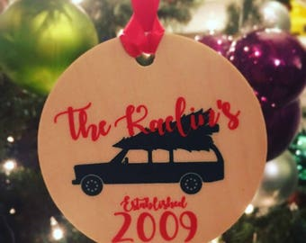 Family Established Christmas Tree Car Ornament
