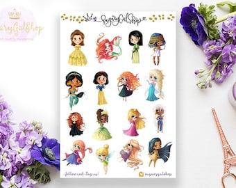 My Princesses Planner Sticker Sheet