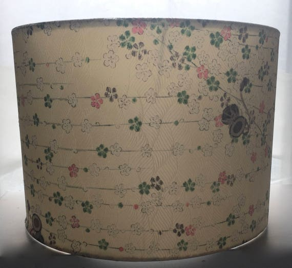 Cream Silk Lamp Shade Made from Vintage Kimono Silk 2 Sizes Available 30cm (12 inch) 20cm (8 inch)