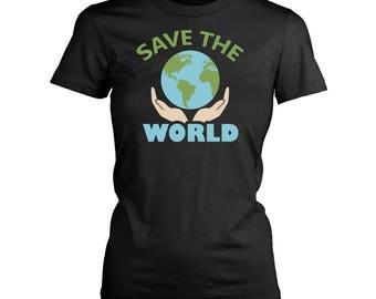 World womens fit T-Shirt. Funny World shirt.