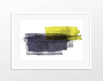 Painted Color Blocks Geometric Abstract Modern Art Print