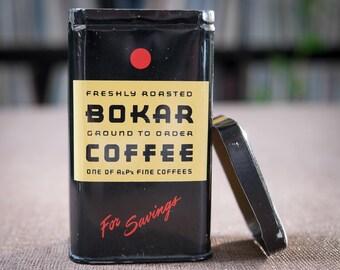 Bokar Coffee Tin Coin Savings Bank