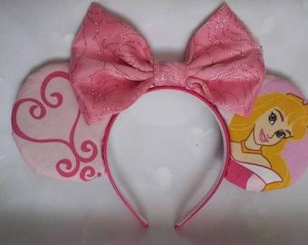 Aurora themed Mickey ears