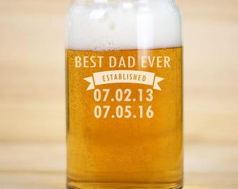 Best Dad Ever, Beer Can Glass, Best Dad Ever Gifts, Best Dad Ever Mug, Fathers Day Mug, Fathers Day Gift, Gift For Dad, Gift Father's Day