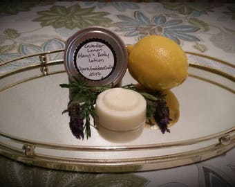 Lavender Lemon Hand and Body Lotion Bar