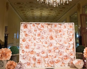 Paper flower backdrop wall 8x10