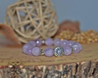 Cape Amethyst Bracelet, Beaded Bracelet, Purple Bracelet, Woman Bracelet, Fancy Bracelet, Lavender Bracelet, Friendship Bracelet