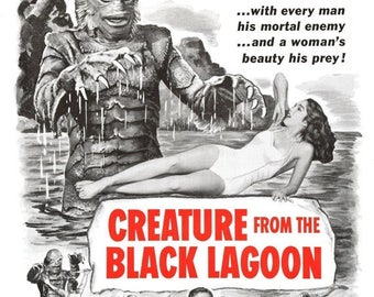 Back to School Sale: Creature from the Black Lagoon 1954 Adventure/Horror Movie POSTER
