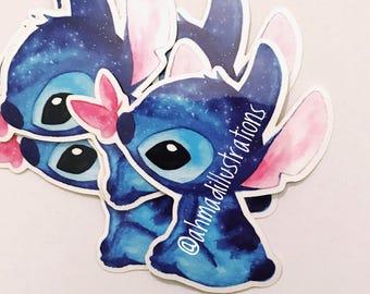 Stitch Sticker Disney Watercolor