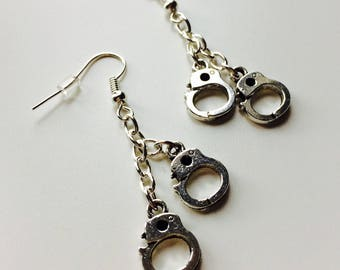 Handcuffs | Police | Prison | Emo | Goth | Earrings | Cute | Alternative
