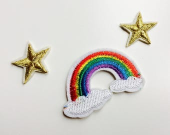 Patches | Patch | Set | Hipster | Trendy | Emo | DIY | Fashion | Kawaii | Cute | Stars | Rainbow | Retro
