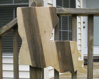 Louisiana State Of Louisiana Louisiana Art Wooden Louisiana Wood State Cutout