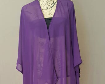 Sale! Sheer Plum Kimono Cover up