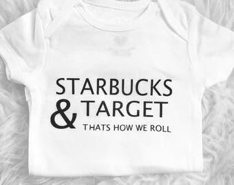 Starbucks & Target shirt for baby, child, adult
