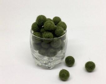 Camouflage 100% Wool Felt Balls - 1cm