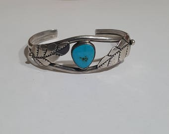 Navajo Old Pawn Sterling Cuff