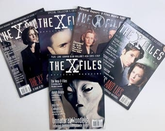 X-Files Official Magazines, 5 Vintage, Collector's Edition, Mulder, Scully, Alien, Episode Guide, Conspiracy, X-Files Secrets, Mythology