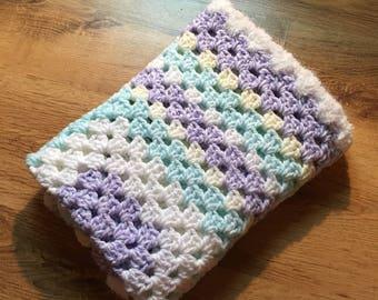 Pastel Granny Square Baby Blanket