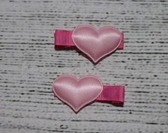 heart hair clip set of 2