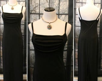 Vintage 90's Long Black Evening Gown By Molly Malloy *FREE SHIPPING*