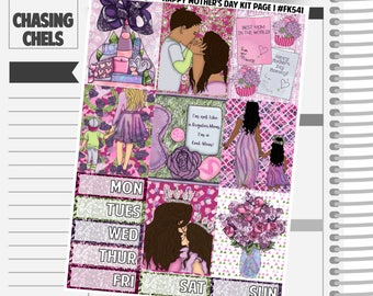 Happy Mother's Day Collection #FK541-547 Premium Matte Planner Sticker Kit
