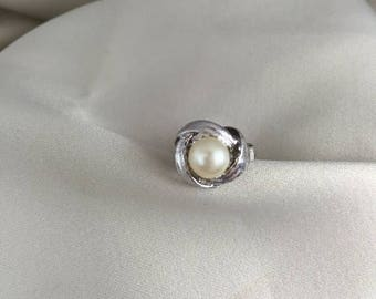 Mid Summer 50% Sale Majorica Pearl Ring on Sterling silver setting