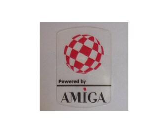 Commodore Amiga Label / Aufkleber / Sticker / Badge / Logo 1,9cm x 2,8cm [303c]