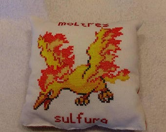 Embroidered cushion Pokemon - Sulfura / Moltres