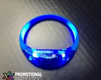 Blue LED Bracelets (100 Pack)