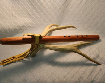 Native American Indian Style Flute - Premium Grade Redwood in Am (serial no. 0064)